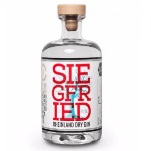 Eine Schnapsflasche der Marke Siegfried