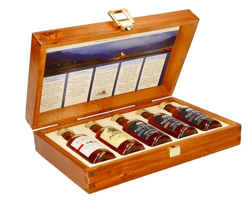 Mini Flaschen in Holzkiste